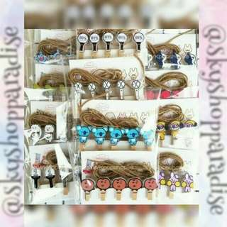 [Preorder] KPOP WOODEN CLIPS