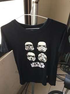 野獸國Star Wars 質感厚棉白兵T桖