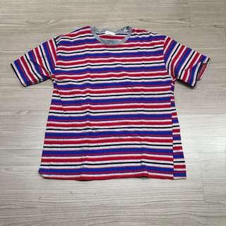🚚 WOOPLANET 門市購入 繽紛條紋彩色上衣
