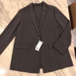 Dark Grey Formal Oversized Blazer