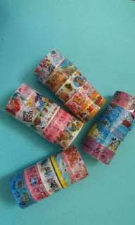 CHARACTER WASHI TAPES BY 5s