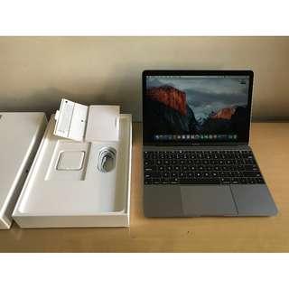 LIKE NEW MacBook 12-inch Space Grey