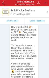 Highly rated seller (2nd time)