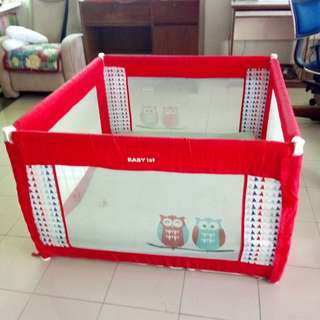 Red Baby 1st Playpen