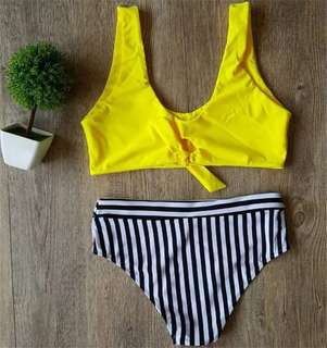 Luna Yellow Stripes Two Piece