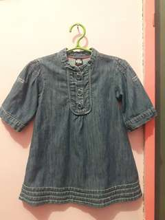 Zara baby denim dress