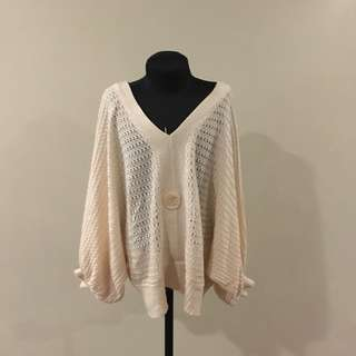 Knitted Batwing Sweater