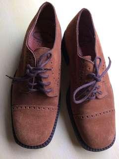 義大利foreste麂皮彈性鞋