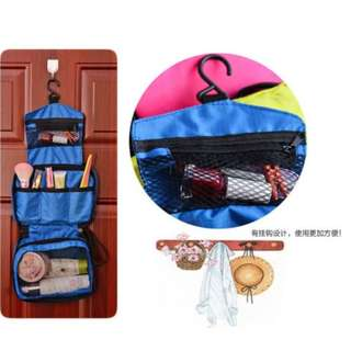【現貨】旅行用品 掛勾防水收納袋 化妝品收納袋 掛勾盥洗收納包