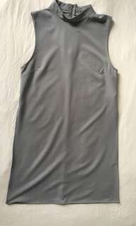 Grey dress high side slits (medium)