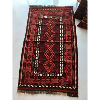 Hand Knotted Old kilim rug  Afghanistan Maymana kilim