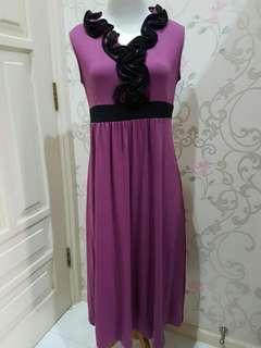 Sexy Sleeveless Purple Dress