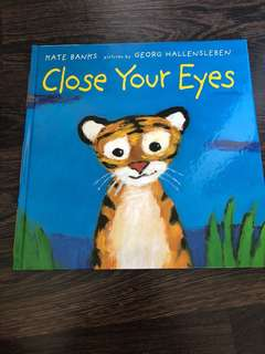 Hardcover close your eyes children's book