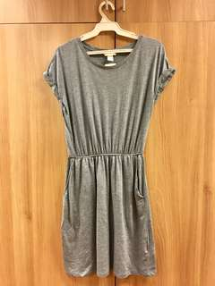 Slip On Gray Blue Dress