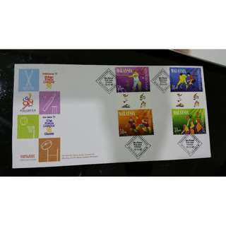 First Day Cover - 300 Days to KL 98 Games  x 2