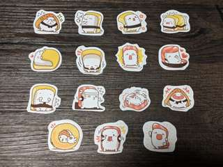 [BN] Cute Sushi Scrapbooking Stickers