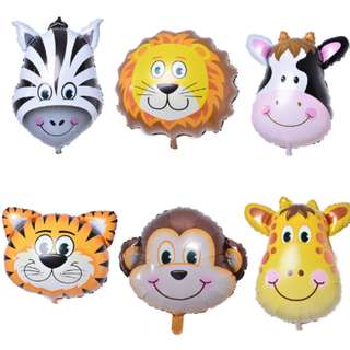 🦓 Animal Faces Balloon (35cm)