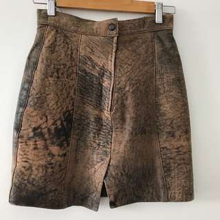 Authentic leather skirt sz 8