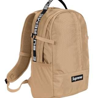 Supreme back pack tan
