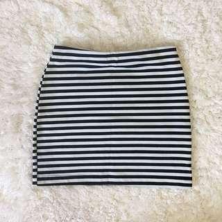 Stripes Bandage Skirt