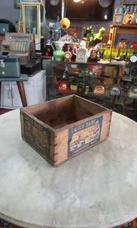 Old Dutch Baby Milk Wooden Box