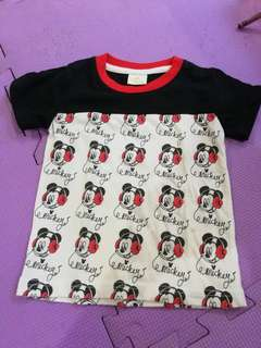 Disney Mickey shirt fits 1 to 2 yrs old