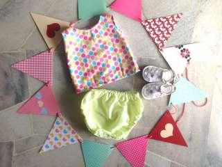‼️SALE‼️JUNIPER BABY GIRL'S BLOOMER SET for (newborn - 6 months)