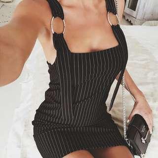 POPULAR 💫 Kinsley Pinstripe Dress