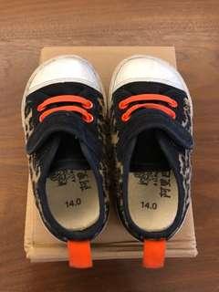 黑色豹紋 男童鞋