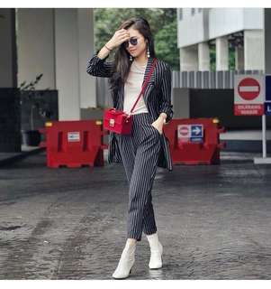 Zara Set Blazer and Pants #mausupreme