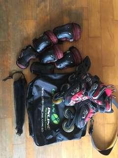 FILA roller blading skates