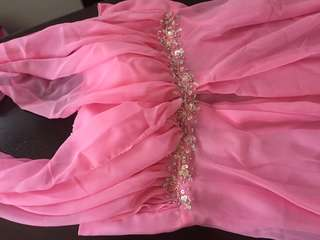 Pink Infinity Long Gown