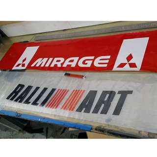 Oracal windscreen sticker siap pasang