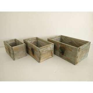 (Rent) Wooden Crate Box Flower Design