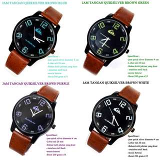 grosir jam tangan Quicksilver Kulit brown