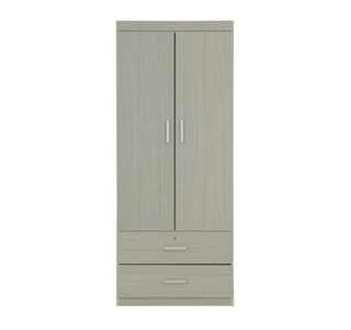 2 Door Wardrobe whitewash