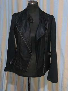 Aeropostale black bike leather jacket