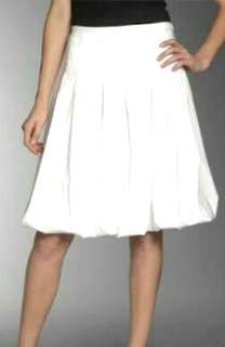 White bubble skirt knee length