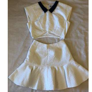 Alice McCall Two Piece Top and Skite White
