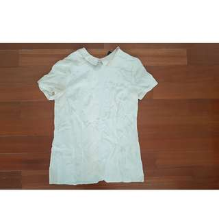 Marc By Marc Jacobs Peter Pan Collar 100% Silk Blouse 8