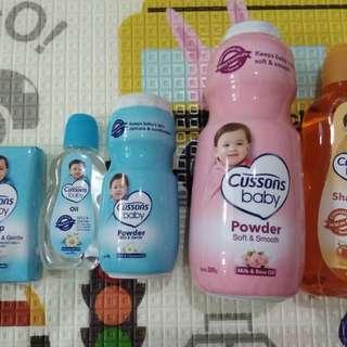 Baby cussion set sabun bedak baby oil