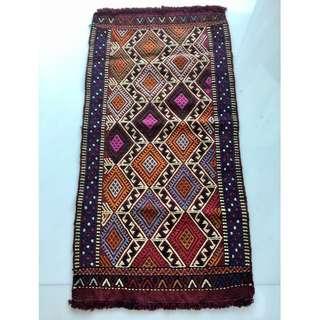 Old kilim Vintage Konya YASTIK  small size kilim rug
