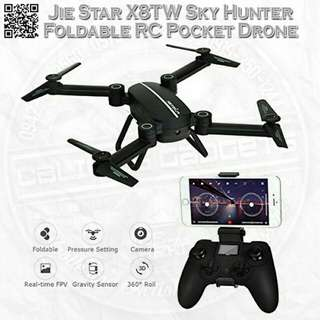 FLYSTER SKYHUNTER Foldable RC Pocket Drone