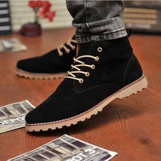 Men's Casual Suede Lace Ankle Boots High Top Loafers Sneakers Shoes