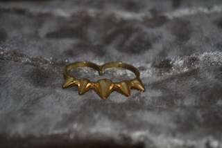 Gold Rockstar Double Ring