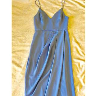 Shona Joy Core Cocktail Dress Powder Blue