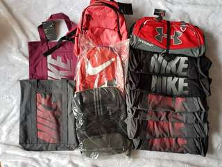 Authentic Nike, Adidas, Underarmour Bags FROM P1699