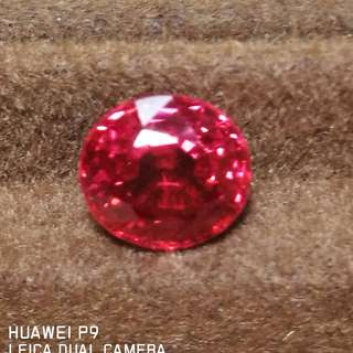SPINEL CERTIFIED NATURAL HIGH END PINK SPINEL BURMESE NICE FOR RING OR PENDANT VALUABLE. EST RETAIL $500
