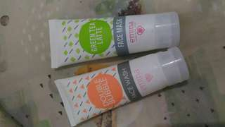 Emina Bubble Wash & Face Mask Green Tea