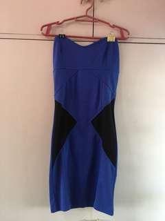 Terranova Blue Tube Bodycon Dress